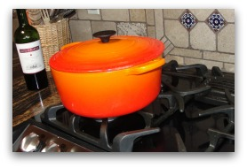red cooking pot; seitan recipe