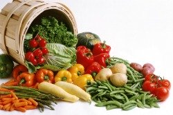 basket of vegetables: losing weight after menopause