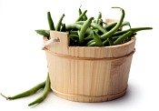 vegetarian diet; upright bundled green beans