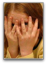 vegetarian diet; little girl hiding her eyes