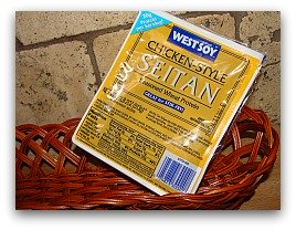 package of seitan; good sources of protein for the vegetarian traveler